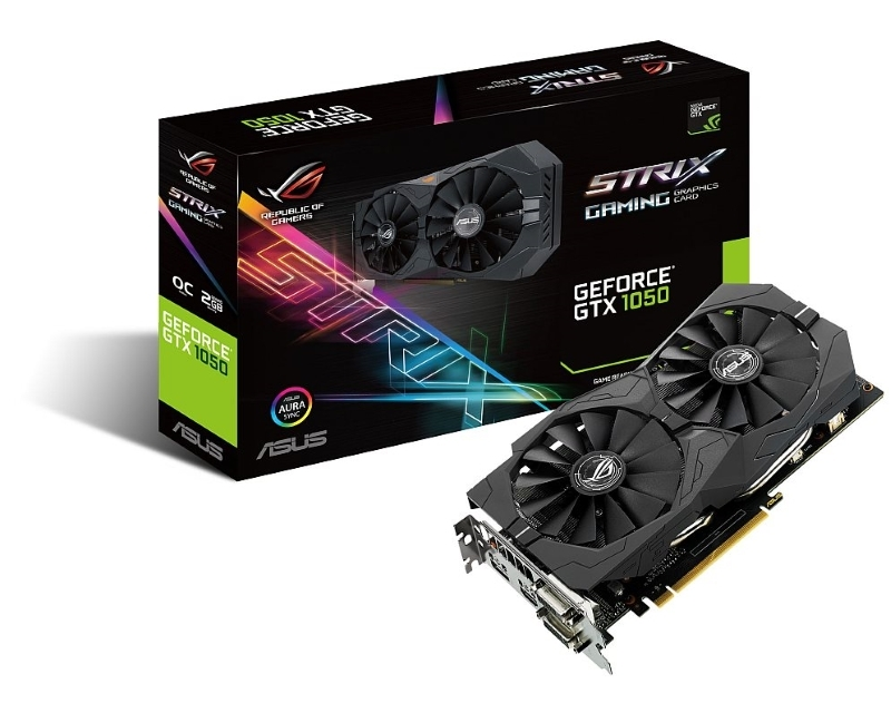 ASUS nVidia GeForce GTX 1050 2GB 128bit STRIX-GTX1050-O2G-GAMING