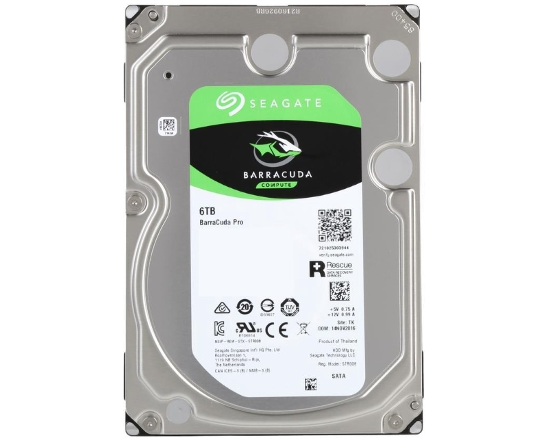 "SEAGATE 6TB 3.5"" SATA III 256MB 7.200 ST6000DM004  Barracuda Guardian"
